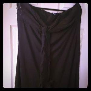 Black tube top halter dress